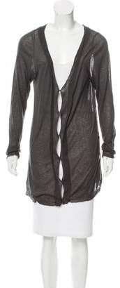 Nina Ricci Semi-Sheer V-Neck Cardigan