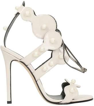 Marc Ellis Lace Up Pearls Sandals
