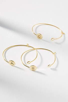Anthropologie Monogram Cuff Bracelet