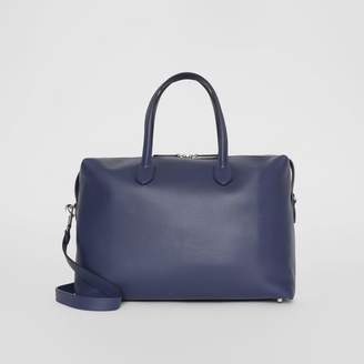 Burberry Soft Leather Holdall, Blue