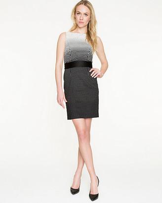 Le Château Ombre Dot Cotton Blend Shift Dress