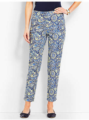 Talbots Scallop Pocket Slim Ankle Pant - Paisley