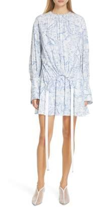 Tibi Isa Toile Print Cinch Waist Dress