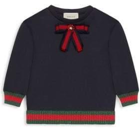 Gucci Little Girl's& Girl's Bow Sweatshirt