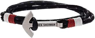 Ben Sherman Anchor Braided Cord Bracelet