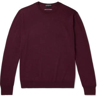 Balenciaga Virgin Wool-Blend Sweater - Burgundy