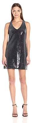 Michael Stars Women's Sequin Sleeveless V Neck Dress