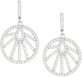 Fantasia White CZ Crystal Round Drop Earrings xzNJudb