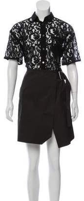 Sacai Luck Lace Knee-Length Dress Black Luck Lace Knee-Length Dress