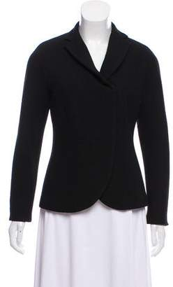 Donna Karan Wool Notch-Lapel Blazer