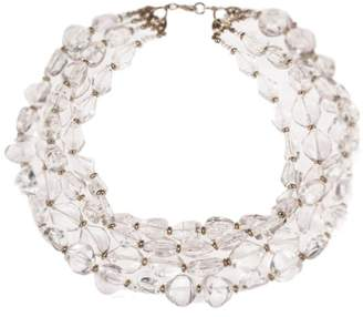 clear Lucite Nugget Bead Torsade Necklace