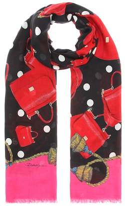 Dolce & Gabbana Sicily modal and cashmere scarf