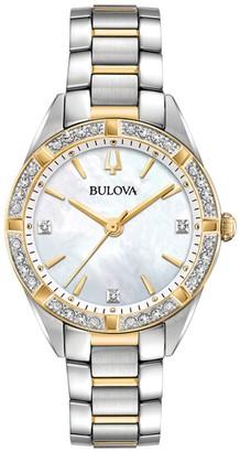 Bulova Women's Two-Tone 1/10 cttw Diamond Watch