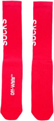 Off-White Off White Quote Socks