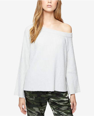 Sanctuary Rib-Knit Off-The-Shoulder Sweater