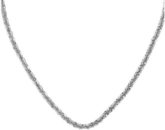 Italian Silver Tinsel Necklace, 16.6g