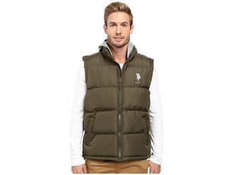 U.S. Polo Assn. Basic Puffer Vest with Fleece Hood Men's Vest