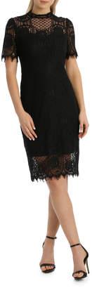 Cap Slv Black Lace Dress