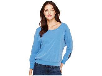 Splendid Double Cut Out Pullover Women's Long Sleeve Pullover