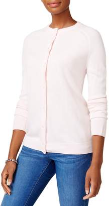 Karen Scott Faux Pearl-Button Cardigan