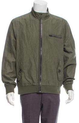 Michael Bastian Woven Zip-Up Harrington Jacket