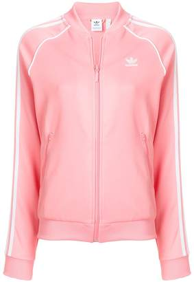 adidas zipped logo jacket