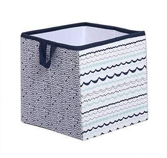 Bacati Noah Tribal Fabric Storage Cube and Bin