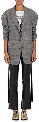 R 13 Women's Prince Of Wales Checked Wool Blazer Size M