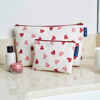 Emma Bridgewater Blue Badge Co Hearts Wash Bag And Makeup Purse Set
