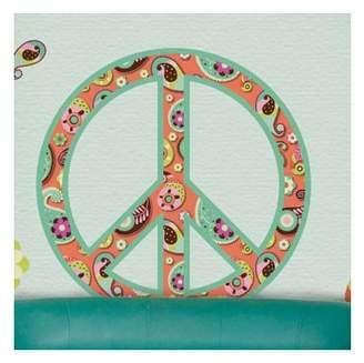 My Wonderful Walls Paisley Peace Sign Wall Sticker Kit