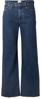 Simon Miller W006 Toluca Cropped High-rise Wide-leg Jeans - Dark denim