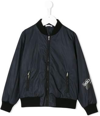 Dolce & Gabbana logo tape bomber jacket