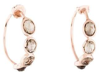 Ippolita Smoky Quartz Rosé Hoop Earrings