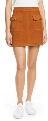 Frame Le Bardot Corduroy Miniskirt