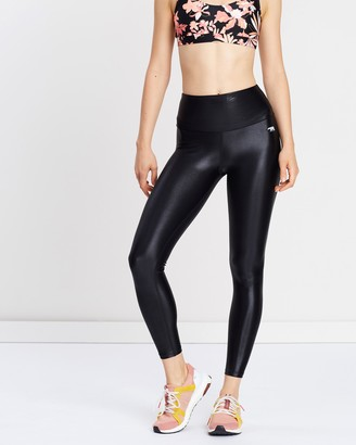 Running Bare Ab Waisted Fight Club Full Length Tights