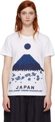 Blue Blue Japan White Mt. Fuji Sakura T-Shirt