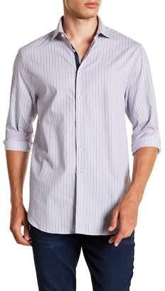 Michelson's Fancy Dobby Stripe Slim Fit Shirt