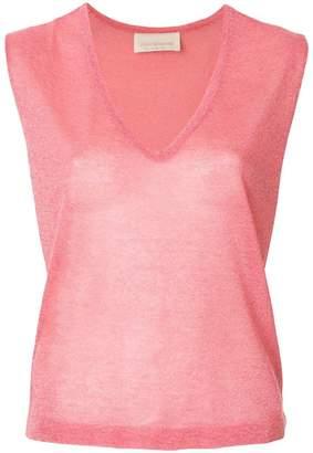 Chiara Bertani sleeveless v-neck sweater