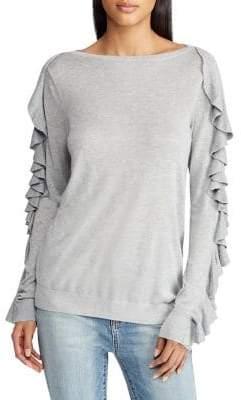 Lauren Ralph Lauren Ruffled Boatneck Sweater