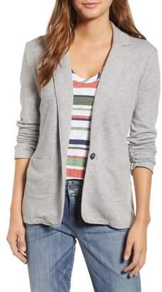 Caslon Two Pocket Knit Blazer (Regular & Petite)