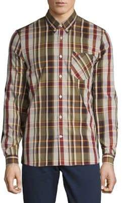 Fred Perry Plaid Button-Down Shirt