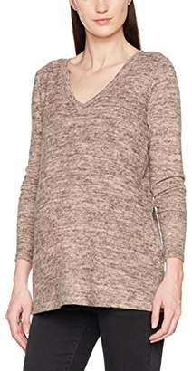 Mama Licious Mamalicious Women's Mlkelly Lounge L/s Knit Top V Bf Maternity Jumper,(Size: Large)