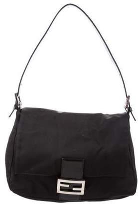 Fendi Leather-Trimmed Mama Baguette