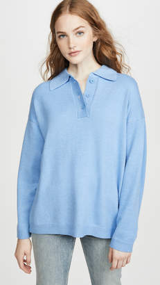 Moon River Oversized Collar Pullover