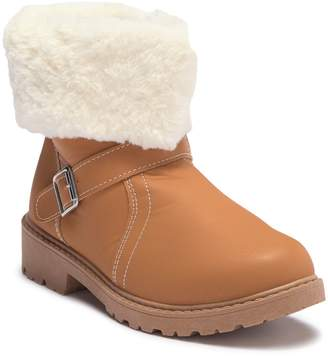 OLIVIA MILLER Faux Fur Foldover Ankle Boot (Little Kid & Big Kid)