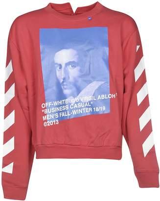 Off-White Off White Color Block Print Sweatshirt