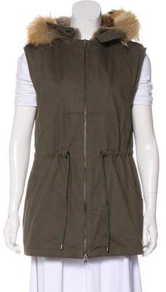 Pologeorgis Fur-Lined Hooded Vest