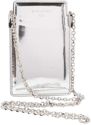 Barbara Bui Silver Leather Clutch bags