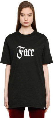 Facetasm Face Printed Cotton T-Shirt