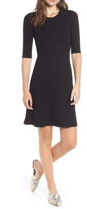 Amour Vert Marilyn Rib Fit & Flare Dress
